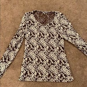 BKE lace long sleeve shirt